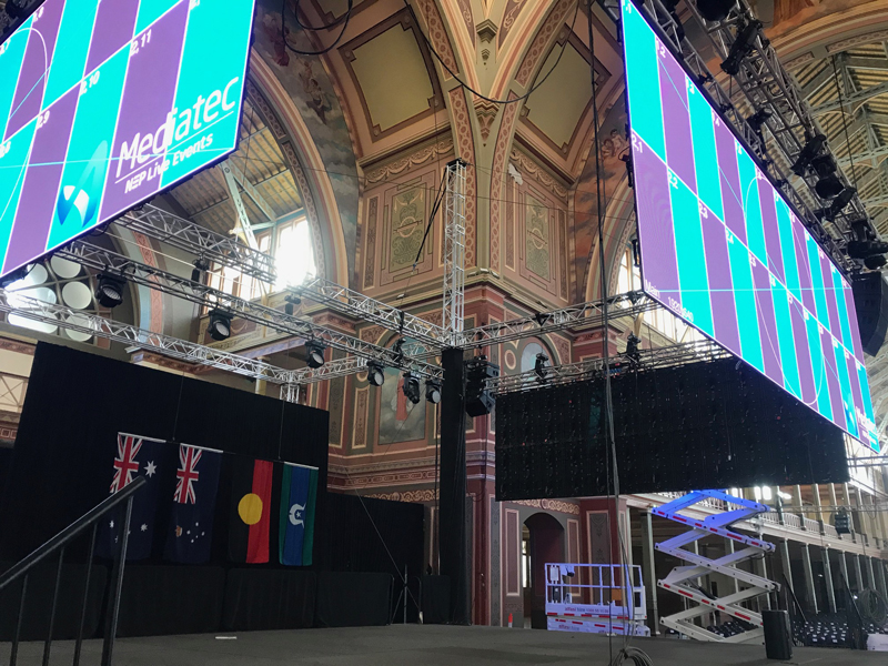 """Featured image for """"Diversity Rigging defies gravity with F45 at the Royal Exhibition Building"""""""
