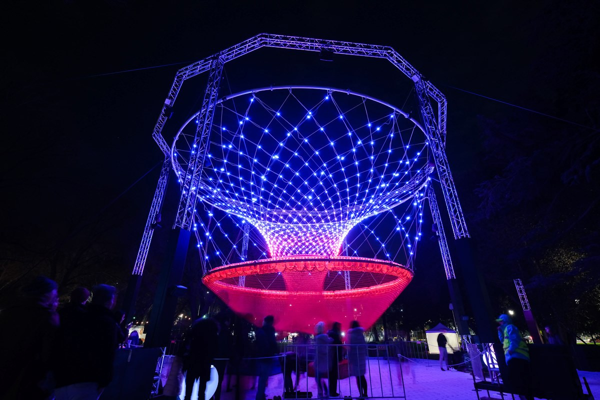 """Featured image for """"Element Rigging create an interactive Cocoon for Melbourne's White Night Reimagined"""""""