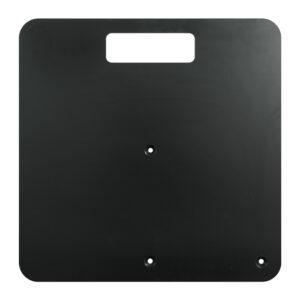 450mm x 450mm x 6mm Steel Base Plate - Black