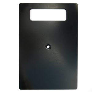 300mm x 200mm x 6mm Steel Base Plate - Black