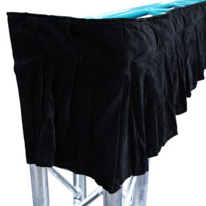 6.2mW x 0.40mH Truss Border with 'D' Ring, Velcro Loop, Ties and Velcro Strip - Black (suits F33/F34/A33/A34)
