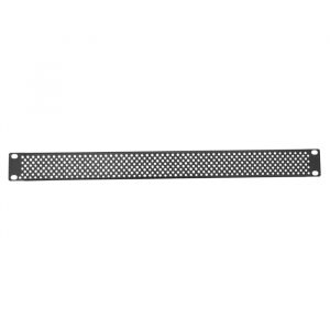 """1RU 19"""" Rack Mount Perforated Blank Panel - Black"""
