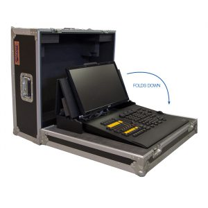 GrandMA onPC Wing Case with Special CNC Foam Fit-out and Screen Mount - Black
