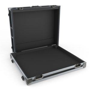 A&H GLD80 Mixer Case with Recessed Castors and Special CNC Foam Fitout - Black