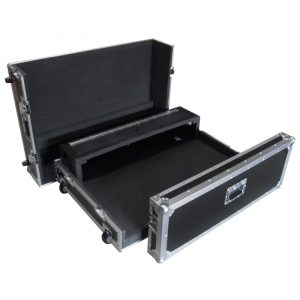 Behringer X32 Mixer Case with Recessed Castors and Dogbox - Black