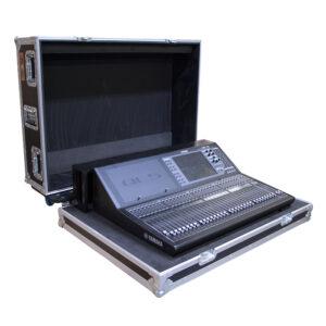 Yamaha QL5 Mixer Case, CNC Foam Insert In ES RC-MX-W100 Case with dogbox
