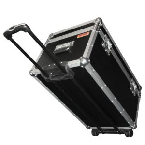 General Purpose Rolling Case 710mmL x 410mmD x 400mmH with Light Duty Retractable Handle & Recessed Castors - Black