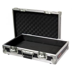 Heavy Duty Briefcase 595mmL x 405mmD(incl. Feet & Handle) x 170mmH(incl. Feet) with Easy-Cut Foam Inserts; Removable Lid - Black