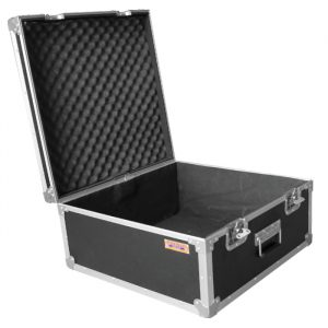 LCD Monitor Carry Case 585mm x 595mmD x 290mmH with Easy-Cut Foam Inserts - Black