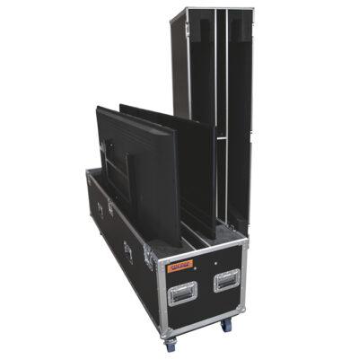 Dual 65in-70in LCD Screen Road Case