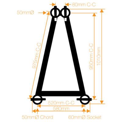 F102 Folding Truss 3 Way T-Junction