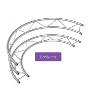 F32 Flat 0.5mR (1.0mØ) 180° Radial Truss - Horizontal (2 parts to a Circle)