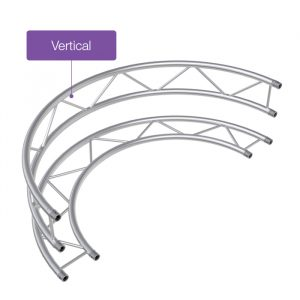 F32 Flat 2.5mR (5.0mØ) 90° Radial Truss - Vertical (4 parts to a Circle)