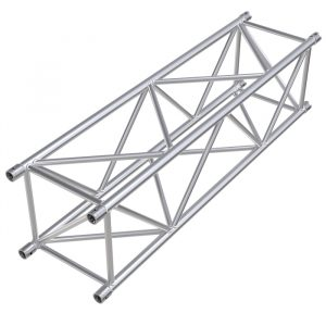 F54 Square 1.0m Linear Truss with Diagonal Bracing on All 4 Faces including Spigots, Pins & R-Clips
