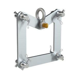 F34 Truss End Plate Suspension Bracket including Half-Spgots, Pins & R-Clips (SWL 1000kg)