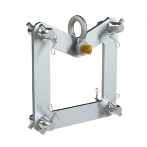 F44P Truss End Plate Suspension Bracket including Half-Spgots, Pins & R-Clips (SWL 1000kg)