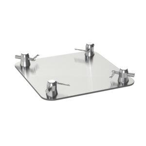 F34 Truss 310mm x 310mm x 5mm Square Aluminium Base Plate with Half-Spigots, Pins & R-Clips