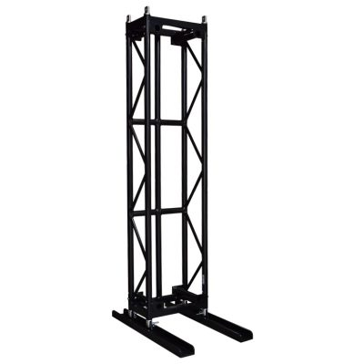 1100mm x 120mm Base Plate Channel for Pre-Rig Truss including Pins & Clips - Black (2 per Truss Length Required)