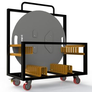 8 Way Base Plate Trolley to Suit 1mØ Base Plates