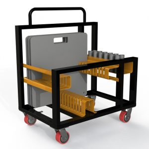 12 way base plate trolley to suit 600mm base plates