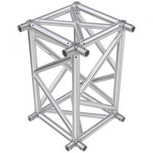 F104 Rectangular Truss Cube Junction with Socket Connectors on 2 Faces