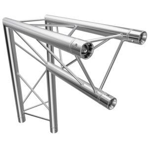 F23 Tri Truss 2 Way 90° Vertical Corner (Apex Inside) with Spigots, Pins & R-Clips