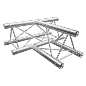 F23 Tri Truss 3 Way Horizontal T-Junction (Apex Up/Down) with Spigots, Pins & R-Clips
