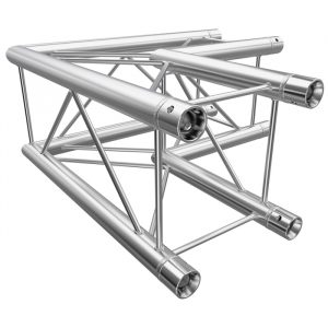 F24 Square Truss 2 Way 90° Corner with Spigots, Pins & R-Clips