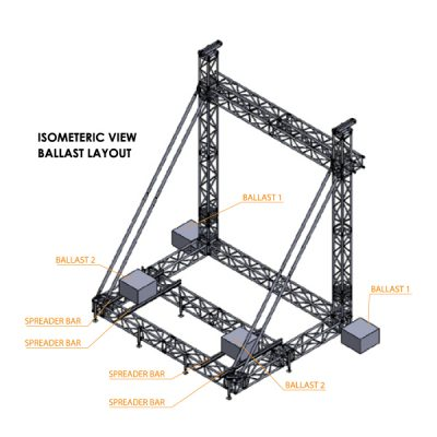 F44P 5.8mWx4.7mDx6.8mH LED Screen Structure