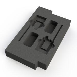 2 Way - Sennheiser Belt Pack- EW100,300, 500 -1/2 of 2RU rack drawer ES AC-RD2UA/B