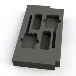 Foam Insert for 2 way Shure ULXD1 Beltpack in 1/2 Penn 2RU drawer