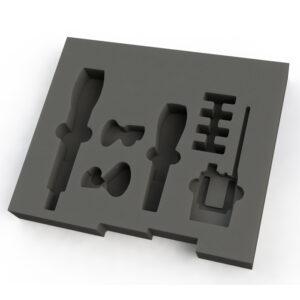 Drawer Insert 1 - 404 W x 341 D x 50 H 1 x Sennheiser - SKM 500-9451 x Sennheiser - e 945 cable mic1 x Sennheiser – EK 300 IEM G3-E-X beltpack