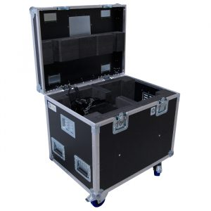 Dual GIS LP500 Chain Hoist Ovation Road Case with additional void area underneath for soft chain bag