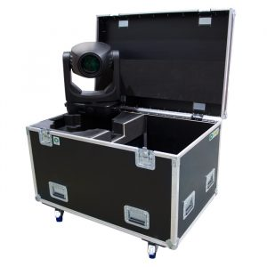 Dual Ayrton Khamsin/Ghibli/Perseo/Bora Ovation Road Case to suit Urethane Boots with Rear Storage Compartment