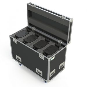 Quad Ayrton Levente Ovation Road Case with rear pocket storage and centre divider