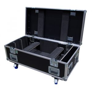 8 Unit Robert Juliat Dalis 860 Ovation Road Case with side pocket storage and hinged seperation arms
