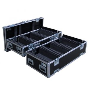 Modular case to hold VDO Sceptron bar lights. Capacity can be increased 10 lights with each level added.