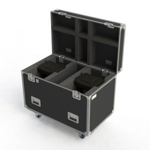 Custom case to suit Dual Martin ERA600 lights with additional room for clamps and centre storage compartment