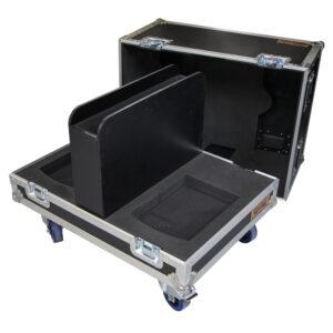 Custom case - 2x Meyer AMIE Precision studio monitors with centre partition
