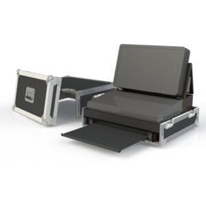 3 Piece Custom case with 1RU Slide-Out rack mount shelf for Martin M2GO Lighting Console