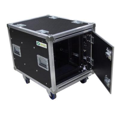 Custom Built Anti-Vibration Rack Mount Case with Slam-Locking Doors