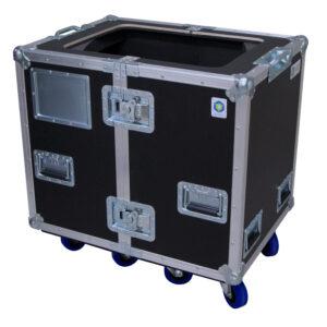 Dual D&B AudioTechnik M4 Monitors Ovation Road Case