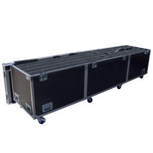 Large LED Signage Ovation Road Case with 11 x Custom Sized Compartments - Black