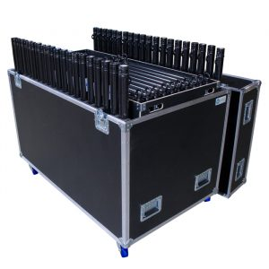 20 Unit 850mm U-Drop Ovation Road Case with Removable Tray for 10 Unit 850mm U-Top
