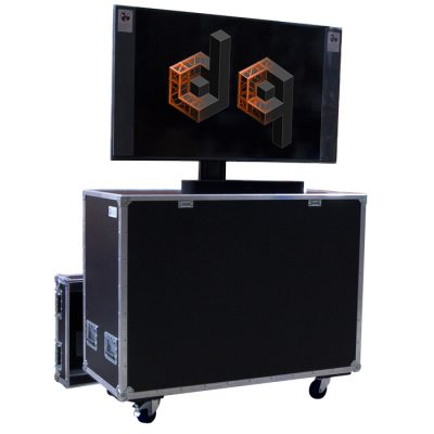 Custom TV Screen Lift case with electric TS1000 lifter to suit a Samsung 55 inch Television