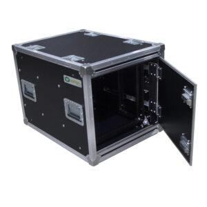 6RU Anti-Vibration Rack Mount Case with Slide-away doors; 800mmD OD; Rack Frame 559mmD - Black