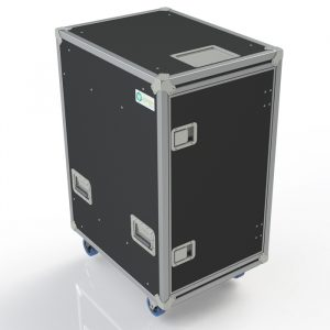 20RU Anti-Vibration Rack Mount Case with Slide-away doors; 800mmD OD; Rack Frame 559mmD - Black