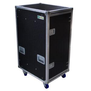 30RU Anti-Vibration Rack Mount Case with Slide-away doors; 800mmD OD; Rack Frame 559mmD Black