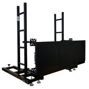 Prolyte LED Screen Groundstack Frame 1.0m Linear Flat Ladder Truss - Black