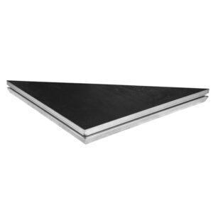 Basicline Triangular Deck 1m x 1m; Black Coated Finish